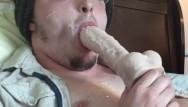 Gay x rated Big thick cumload self facial sucking dildo licking cum cumshot rating
