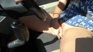 Thumb wheel vfo - I was distracted at the wheel . public teen