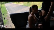 Sex delivery porn site - Horny girl fucks the delivery guy in the public street. wetkelly