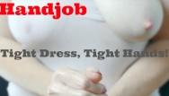 Best handjob oil Pov gentle femdom handjob with lots of oil and tit play