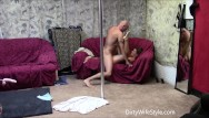 Pole danceing naked Hot couple pole dance and fuck session