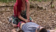 Poison ivy fuck naked Poison ivy batman kiss and rides his cock to creampie on a forest lake