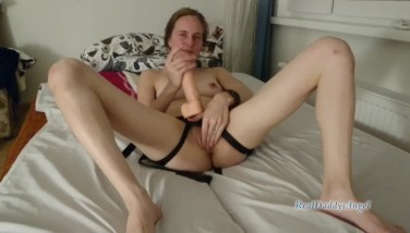 Girl strapon guy: my first strapon experience, femdom anal fuck