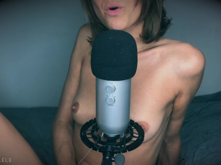ASMR-Love. Lay down with Lele and fuck her until you cum together. English.