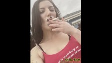 Genuine sexy cigarette smoking girl Rave_Baby in & outdoors compilation #1