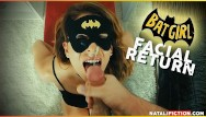 Erotic ladies chaps - Facial superhero chap. 1 - batgirl or catwoman cum on her face