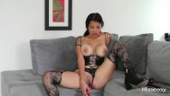 Sexy lingerie stocking - Hot colombian mila in sexy lingerie/stockings playing with her pussy n toys
