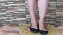 Cock and balls trample crush with balerinas - CBT Trampling