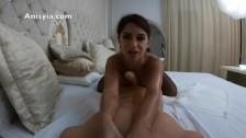 Anisyia Livejasmin 4k POV huge cock tittyfuck and blowjob