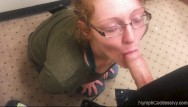 Mature changing room Redhead milf ivy sucks hubby off in a public changing room cim