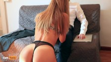 Blonde Secretary Gets Fucked by her Boss till Orgasm
