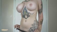 Big Tit Blonde Tries on Teen Panties