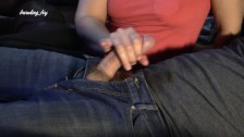 Fan Request MILF gives handjob while chilling on couch