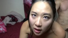 Asian Girlfriend CUM dripping out of her pussy after hotpot @SukiSukiGirl
