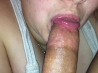 Iphone Blowjob POV Closeup Deep Throat & Cum Swallowing