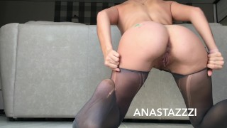 RIPPED STOCKINGS RIPPED CUNT--SMOKING SLUT!