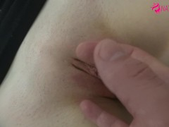 Real Amateur -- Cum on my Belly Button and after i`ll eat your sperm ! POV
