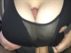Sports Bra Titfuck And Cum Between Huge Natural Tits