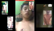 Gays chatting - Masturbating and cumming during a video chat