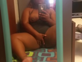Cumming in Mirror – My Morning Orgasm