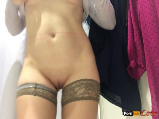 Masturbation in the Public Changing Room – Real Orgasm