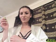 Playful & Seducing Smoking Girl Rave Baby - teasing cigarette domination