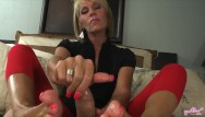 Cummy facials Nikki ashton - milf gives a cummy pov footjob