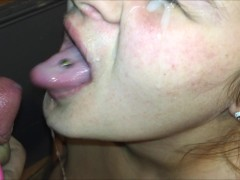 Mom Gives Christmas Present Early & Get Her Own Cum Facial Surprise