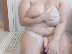 Horny Futanari Cums in the Shower (Shemale/Futanari Roleplay)