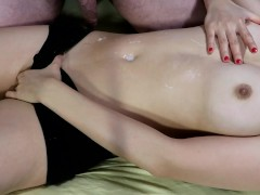 Please Fuck Me And Cum On Me! - Cum On Belly Button Fetish - Handjob Navel