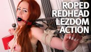 Fucked and bound light Natural teen redhead first time bound and fucked