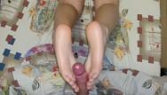 Sisters footjob video - Perfect soles footjob from step sister