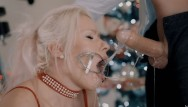 Fist to cuff - Santa came earlier. extreme sloppy deepthroat in tight cuffs and mouth gag