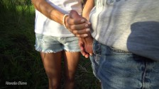 Young Girl Makes Public Handjob For Stranger Near Lake With People :)