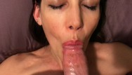 Give my penis back - Hot milf laying on her back and giving the best blowjob ever cim swallow