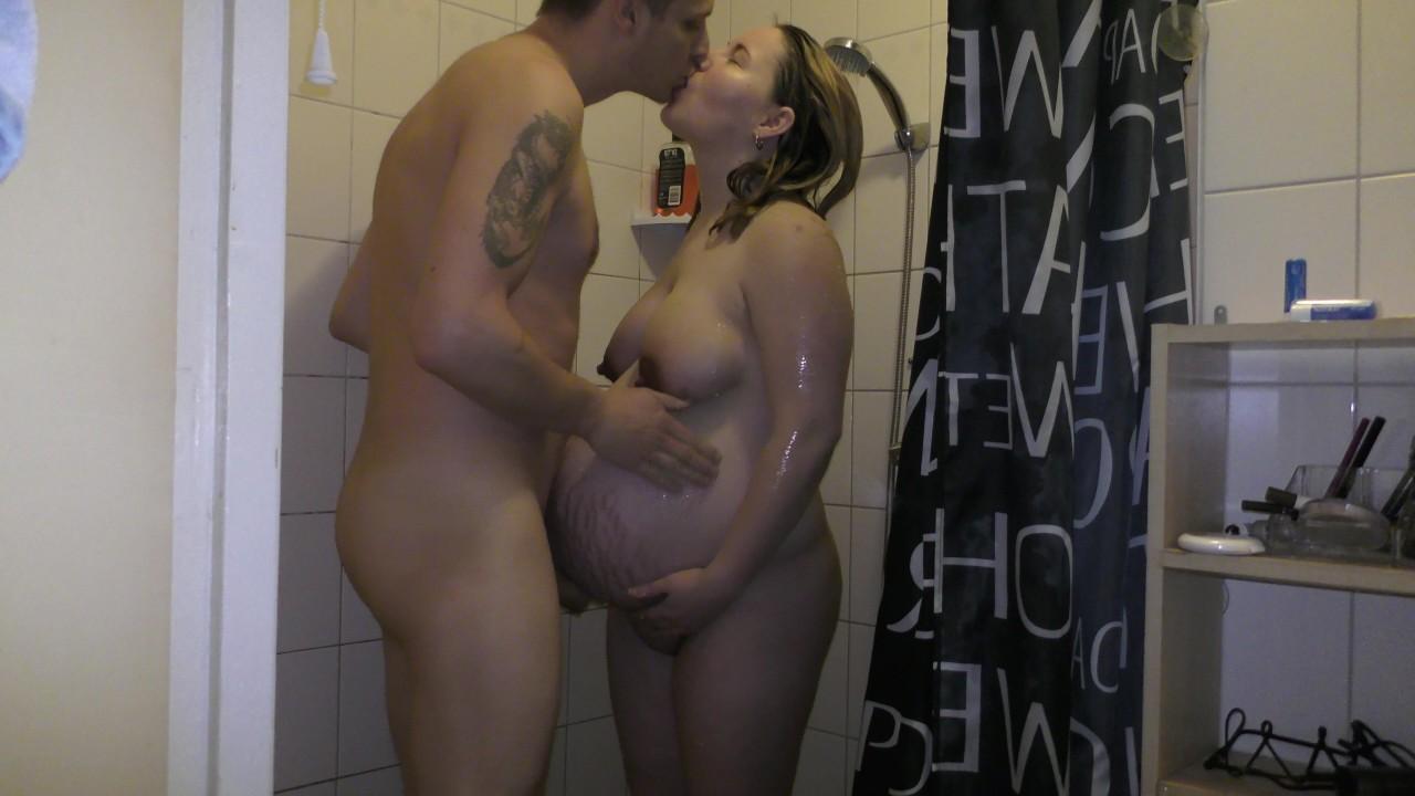 Недели беременных душ, секс и кончил на сиськи