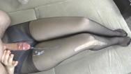 Perfect legs and ass photos Step sis teen handjob - cum on legs in sexy pantyhose