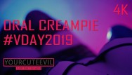 Femcon oral contraceptives - Vday2019 oral creampie valentines day, blowjob with synthwave 4k 2160p