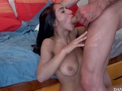 Insane young couple fuck hard, she cries after intense squirt!