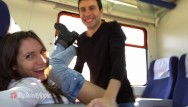 Erotic groped in train - Amateur couple fucking on a train with facial - mysweetapple