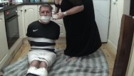 Duct tape orgasm Footballer bound and gagged tight in duct tape 2