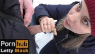 Black dick penetrated in park - Teen gives public blowjob outdoors - letty black