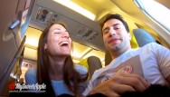 Vibrator on a plane Risky blowjob in a plane to berlin - mile high club - amateur mysweetapple