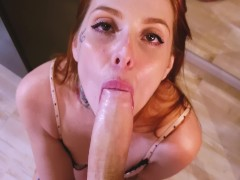 Teen Redhead Anal sex with my panties on! I dont even take my lingerie off!
