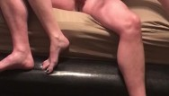 Handjob ball slap Slapping and squeezing my boyfriends balls until he erupts into my panties