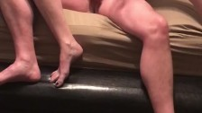 Slapping and Squeezing my Boyfriends Balls until he erupts into my panties