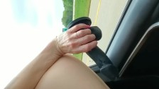 FUCKING MYSELF WITH BBC WHILE DRIVING