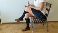 Sockjobs tgp - Cum on schoolgirls socked foot during recess shoefuck and sockjob