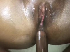 Wife let me fuck her in the ass for the first time. VIRGIN ANAL CREAMPIE