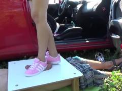 Pink Sneakers Stomping Upon Manhood